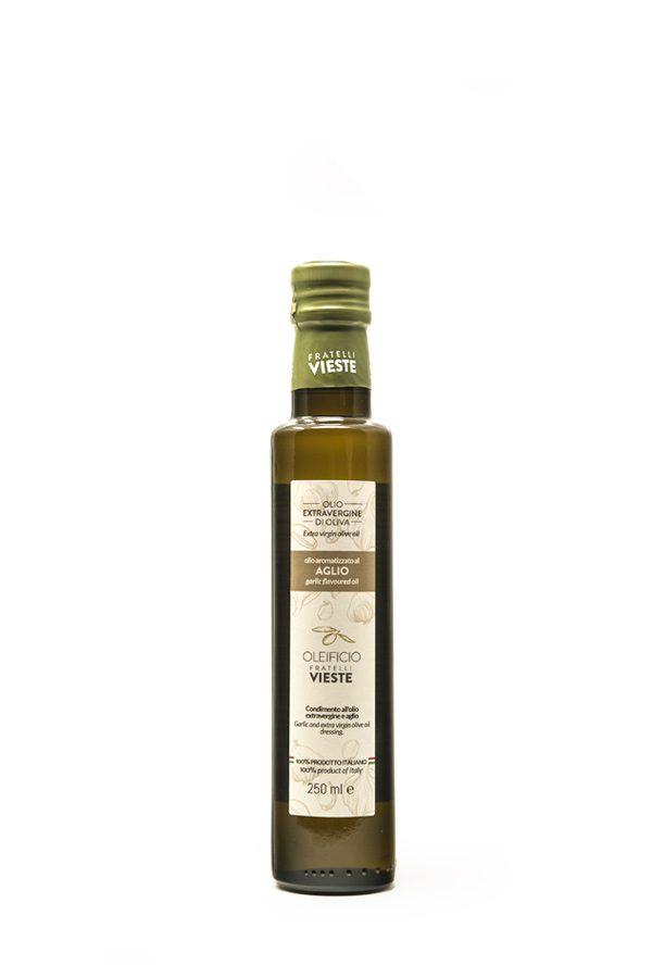 Aromatizzato-Aglio-250ml-Olio-extravergine-doliva-Oleificio-Fratelli-Vieste